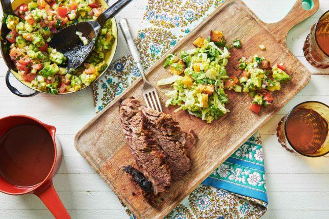 Recette Poitrine de bœuf cuite au four, cuite lentement