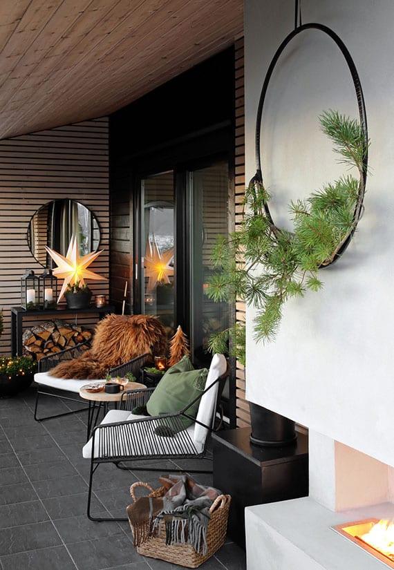 Rendez le balcon et la terrasse beaux en hiver